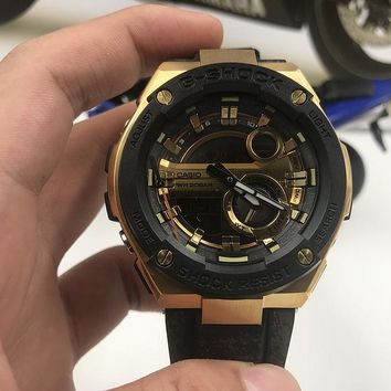 DCCK C013 Casio G-Shock GST-210 Shockproof Waterproof Automatic Mechanical Watches Black Gold