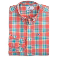Beaufain Plaid Sport Shirt in Sunset by Southern Tide