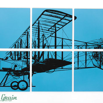 Large Airplane Painting - Custom Fighter Airplane Wall Art - 24x36 - by RightGrain