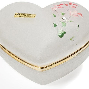 Italian Crystal Heart Box by Intrada Italy
