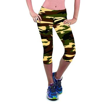 Summer Fitness Leggings Women Casual Pants 3D Floral Printed Capris High Waist Sexy Stretch Leggings Workout Femmes Pantalons