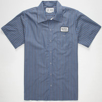 Captain Fin Gas Station Mens Shirt Navy  In Sizes
