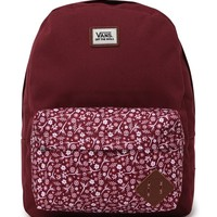 Vans Old Skool II School Backpack - Mens Backpacks - Red - One