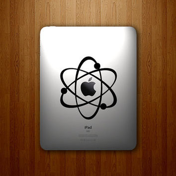 Atom Decal - The Atomic Apple Vinyl Decal - iPad Sticker - iPad Decal