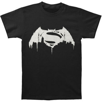 Batman v Superman: Dawn Of Justice Men's  Beaten Logo T-shirt Black