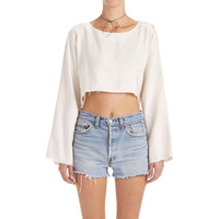 Delphine Cropped Top - Ivory