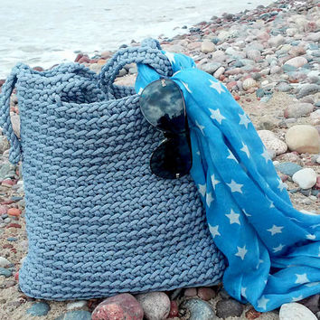 Knitted Bags/ Rope Bags/ Handmade Bags/ Chrochet Bags/ Tote/ Beach Bags/ Gray Bags/ Summer Bags/ Market Bags/ Bags ,,Comfort,,