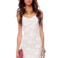 Azalea Lace Dress in Off White :: tobi