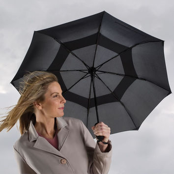 The Wind Defying Packable Umbrella - Hammacher Schlemmer