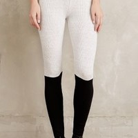 Spiritual Gangster Ribbed Colorblock Leggings in Grey Size: