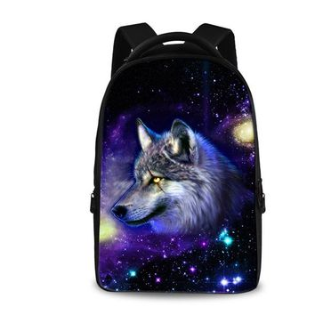 Cool Backpack school FORUDESIGNS Cool Crazy Horse Backpack for Teen Boys Girls Personalized Printing Leopard Wolf Laptop Bagpack Big Size Rucksack AT_52_3