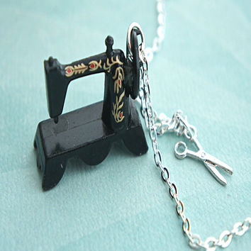 Vintage Sewing Machine Necklace