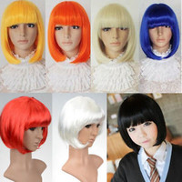 Fashion Women's Sexy Full Bangs Short Straight Wig BOBO Cosplay Party Full Wigs