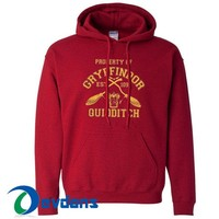 Property Of Gryffindor Quidditch Hoodie Unisex Adult Size S to 3XL