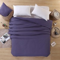 Home textile single duvet cover no filling Microfiber solid sanding bed comforter cover 150*200 180*220cm 200*230cm 220*240cm