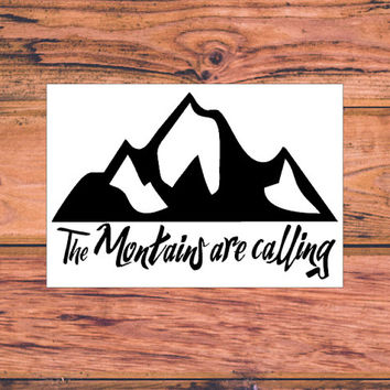 Camping Decal | Adventure Decal | Adventure Arrow Decal | Adventurous Decal | The Mountains Are Calling | Adventure Awaits | Wanderlust |365