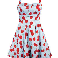 """Women's """"She's My Cherry Bomb"""" Dress by Double Trouble Apparel (Turquoise)"""