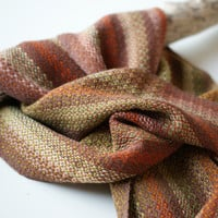Handwoven Autumnal Scarf with Tencel
