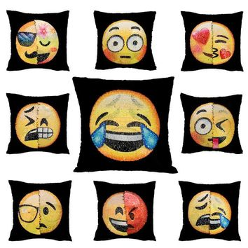 Changing Emoji Pillows - Sequin Pillows