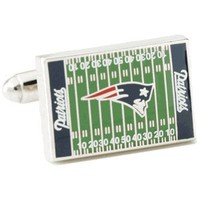 New England Patriots Field Cufflinks-CLI-PD-PTF-SL