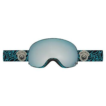 Dragon - X2 Pow Heads Blue / Mirror Ion + Yellow Blue Ion Goggles