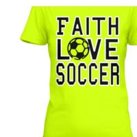 Faith Love Soccer tee