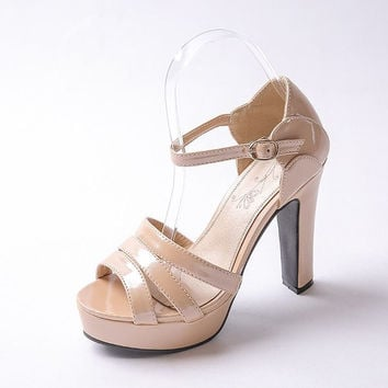 Platform Ankle Strap Sandals up to Size 12 (26.5cm EU 43)