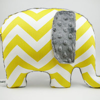 Elephant Pillow chevron elephant modern nursery decor by bakerbaby
