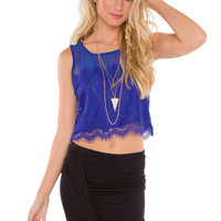 Helena Crop Top - Blue