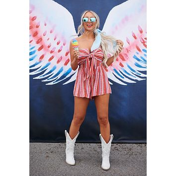 I Can Be Your Everything Romper (Pink/Red/Light Blue)