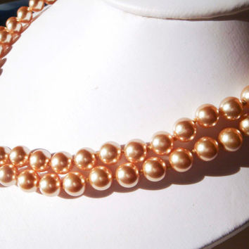 Vintage Kissaka simulated Pearl Necklace Wedding Bridal