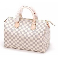 LOUIS VUITTON LV Shoulder Bag White tartan