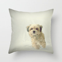 CUTE HAVANESE PLUSH PUPPY  Throw Pillow by M✿nika  Strigel	 | Society6 +++3 SIZES !!!