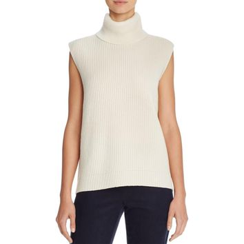 Magaschoni Womens Wool Cashmere Turtleneck Sweater
