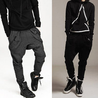 Men Casual Harem Baggy Jogging Hip Hop Dance Sport Sweat Pants Trousers kllmin