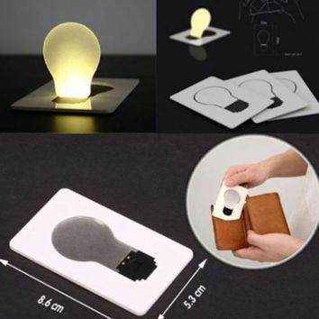 Portable Pocket Folding LED Card Light Lamp Put in Purse Wallet Outdoor