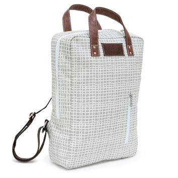 NEW! WOVEN GREY LAPTOP BACKPACK