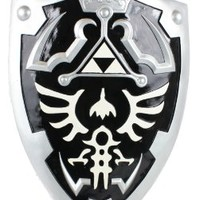 Dark Link Hylian Zelda Shield Full Size and Black Master Sword Set