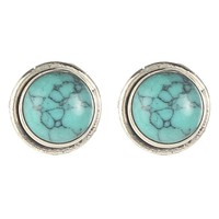 Women's Paige Wallace Small Turquoise Stud Earrings