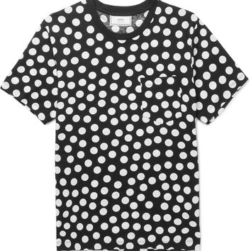 AMI - Slim-Fit Polka-Dot Cotton-Jersey T-Shirt