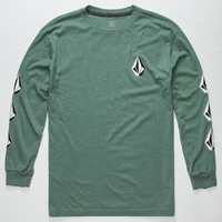 Volcom Say When Boys T-Shirt Forest Green  In Sizes