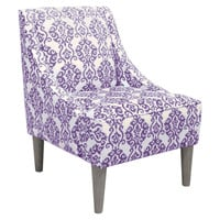 Quinn Swoop-Arm Chair, Lilac, Accent & Occasional Chairs