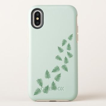 Stylish Green Fern Leaves Floating IPhone X Case