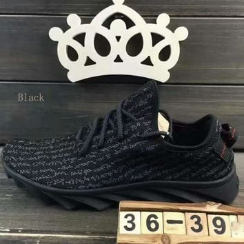 """""""ADIDAS""""Fashion running Classic coconut shoes mesh couples sports shoes Black"""