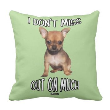 Don't Miss Out Design by Kat Worth Throw Pillow