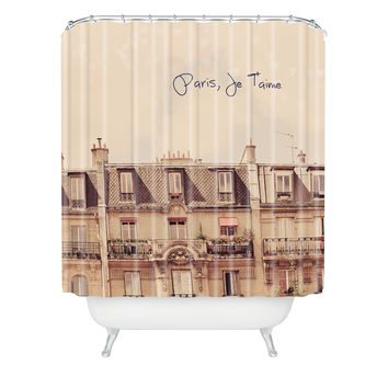 Happee Monkee Paris Je Taime Shower Curtain