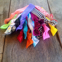 20 Assorted Hair Ties-Ponytail Holders Collection by Elastic Hair Bandz on Etsy