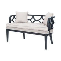 Crescent Bench Grain de Bois Noir