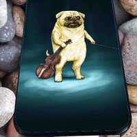 Cute Turquoise Pug for iPhone 4/4s, iPhone 5/5S/5C/6, Samsung S3/S4/S5 Unique Case *76*