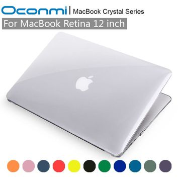 Crystal Transparent Clear Hard Case for Apple Macbook 12 case Retina 12 inch lap